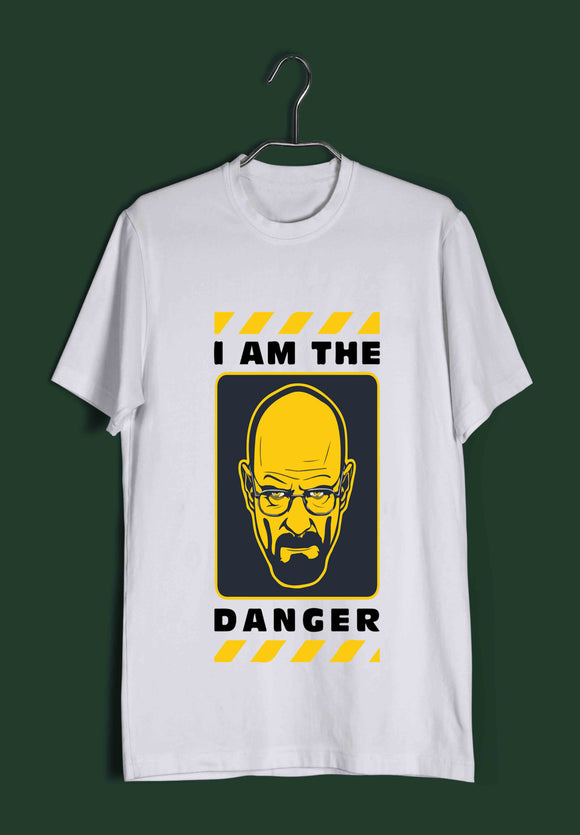 TV Series Breaking Bad I am the Danger Custom Printed Graphic Design T-Shirt for Women - Aaramkhor