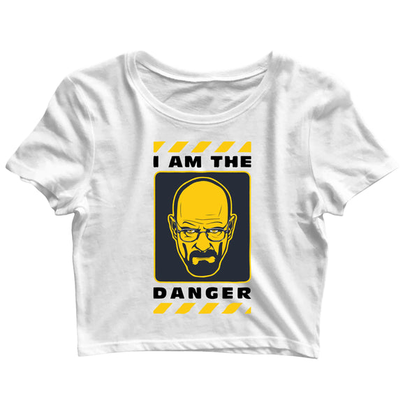 TV Series Breaking Bad I am the Danger Custom Printed Graphic Design Crop Top T-Shirt for Women - Aaramkhor