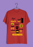TV Series Breaking Bad Mash Custom Printed Graphic Design T-Shirt for Men - Aaramkhor