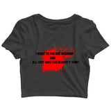 TV Series Games of Thrones (GOT) RED WEDDING TSHIRT Custom Printed Graphic Design Crop Top T-Shirt for Women - Aaramkhor