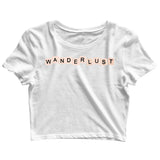 Travel Wanderlust Wanderlust T-Shirt for Women Custom Printed Graphic Design Crop Top T-Shirt for Women - Aaramkhor