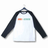Travel Wanderlust Journey is the Destination Custom Printed Graphic Design Raglan T-Shirt for Women - Aaramkhor
