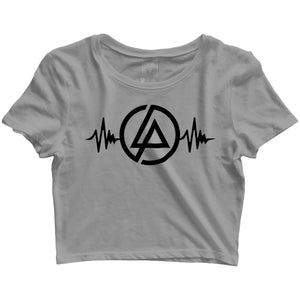 Music Rock Bands Linkin Park is Life Custom Printed Graphic Design Crop Top T-Shirt for Women - Aaramkhor