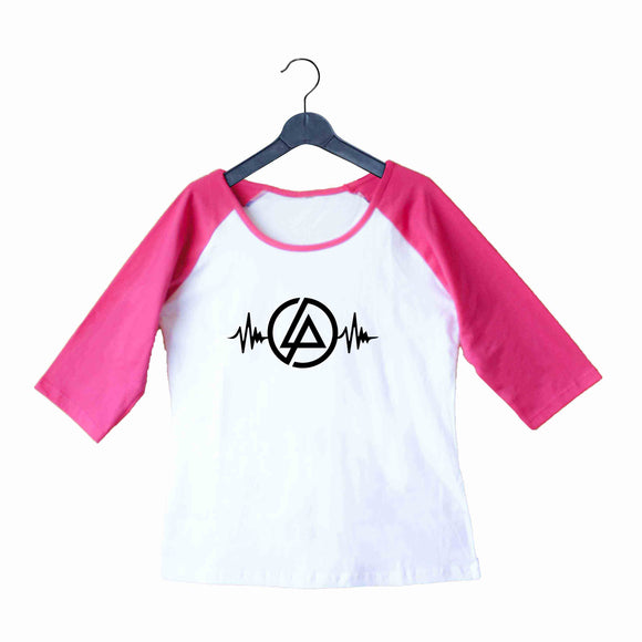 Music Rock Bands Linkin Park is Life Custom Printed Graphic Design Raglan T-Shirt for Women - Aaramkhor