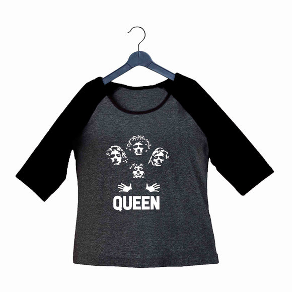 Music Rock Bands Classic Band Queen Custom Printed Graphic Design Raglan T-Shirt for Women - Aaramkhor