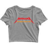Music Metal Music Metallica Nothing Else Matters Custom Printed Graphic Design Crop Top T-Shirt for Women - Aaramkhor
