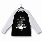 Travel Wanderlust Everybody needs Vitamin Sea Custom Printed Graphic Design Raglan T-Shirt for Women - Aaramkhor