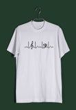 Music  Minimal Tributes - MUSIC IS LIFE Custom Printed Graphic Design T-Shirt for Men - Aaramkhor
