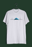 Travel Minimal Tributes - MOUNTAINS ARE LIFE Custom Printed Graphic Design T-Shirt for Men - Aaramkhor