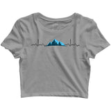 Travel Minimal Tributes - MOUNTAINS ARE LIFE Custom Printed Graphic Design Crop Top T-Shirt for Women - Aaramkhor