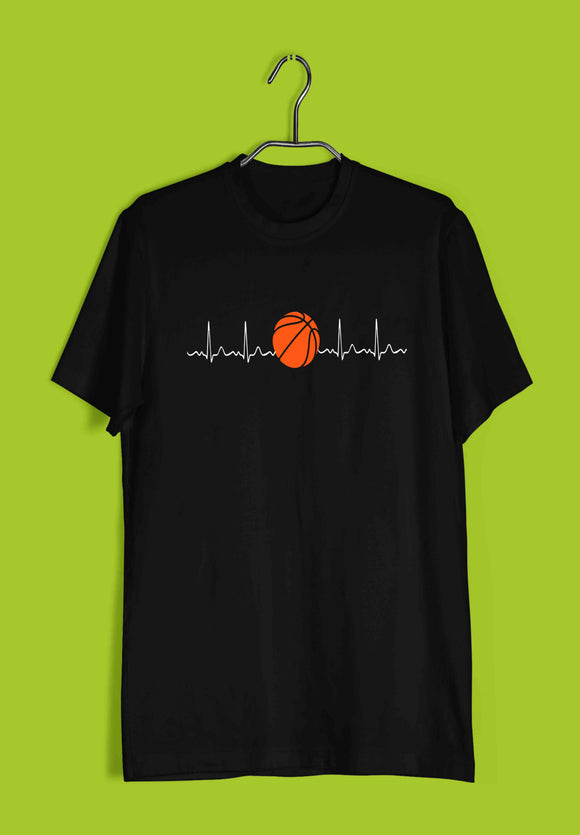 Sports Basketball  Minimal Tributes - BASKETBALL IS LIFE Custom Printed Graphic Design T-Shirt for Men - Aaramkhor