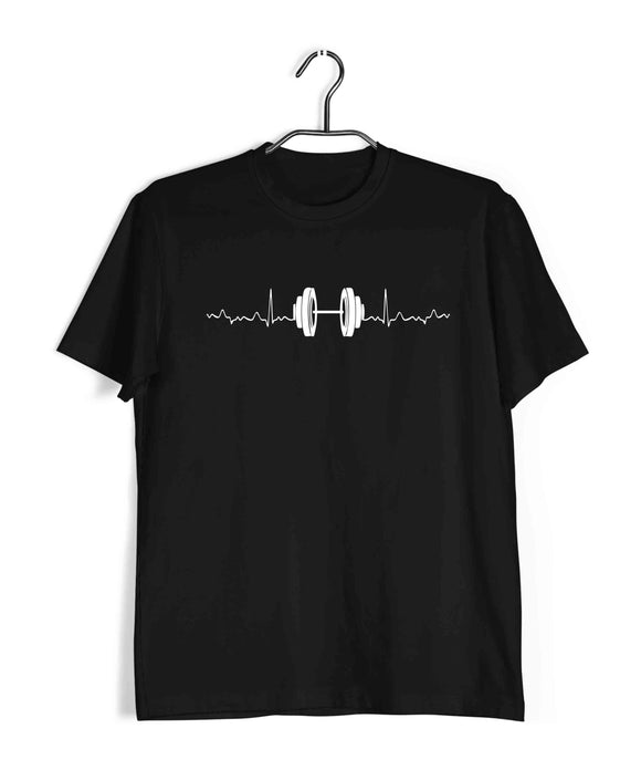 Black minimal designs Fitness Minimal Tributes - WEIGHT LIFTING IS LIFE Custom Printed Graphic Design T-Shirt for Men