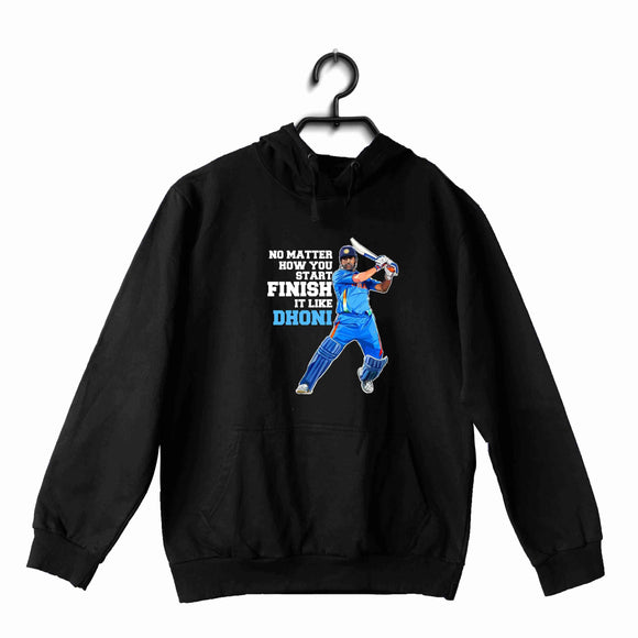 Cricket Team India Finish Like Dhoni UNISEX HOODIE Sweatshirts - Aaramkhor