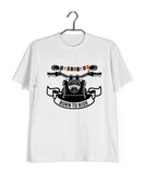 Biker Travel Wanderlust LADAKH FLAG ON BIKE Custom Printed Graphic Design T-Shirt for Men - Aaramkhor