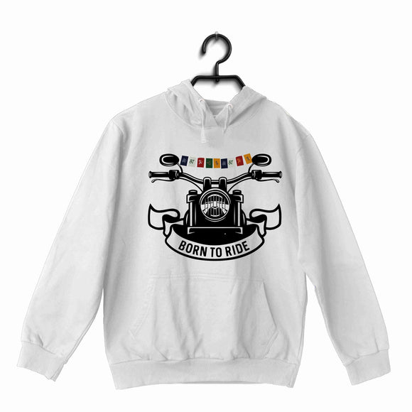 Biker Travel Wanderlust LADAKH FLAG ON BIKE UNISEX HOODIE Sweatshirts - Aaramkhor