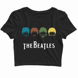 The Beatles Music Rock Bands The Beatles Custom Printed Graphic Design Crop Top T-Shirt for Women - Aaramkhor