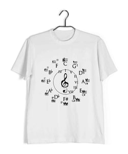 Music Classical Circle of Fifths Classical Music Theory Custom Printed Graphic Design T-Shirt for Men - Aaramkhor