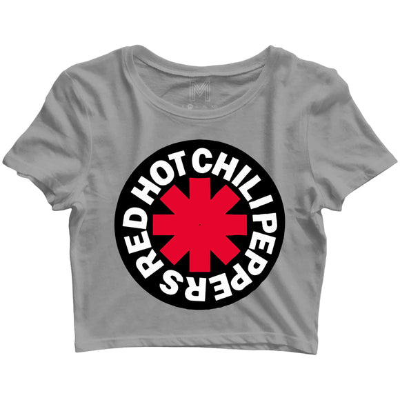 Red Hot Chilli Peppers Music Rock Bands Red Hot Chilli Peppers Logo Custom Printed Graphic Design Crop Top T-Shirt for Women - Aaramkhor