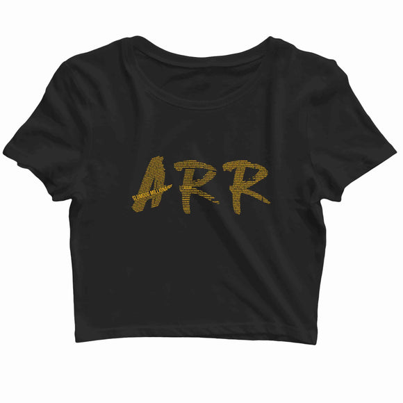 AR Rahman Tamil Music Artists AR Rahman Filmography Mash Custom Printed Graphic Design Crop Top T-Shirt for Women - Aaramkhor