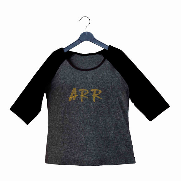 AR Rahman Tamil Music Artists AR Rahman Filmography Mash Custom Printed Graphic Design Raglan T-Shirt for Women - Aaramkhor