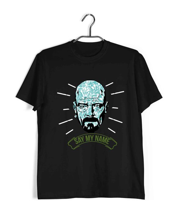 TV Series Breaking Bad Say My Name Heisenberg Custom Printed Graphic Design T-Shirt for Men - Aaramkhor