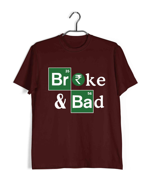 TV Series Breaking Bad Broke & Bad Custom Printed Graphic Design T-Shirt for Women - Aaramkhor