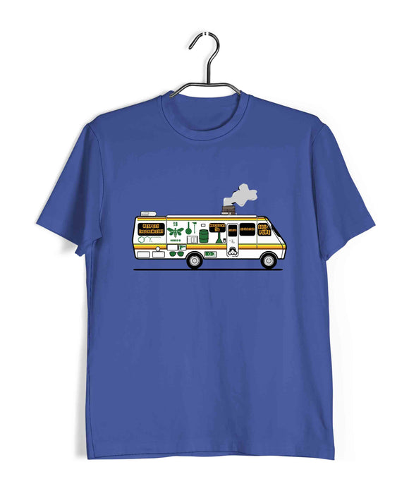 TV Series Breaking Bad The METH VAN Custom Printed Graphic Design T-Shirt for Men - Aaramkhor
