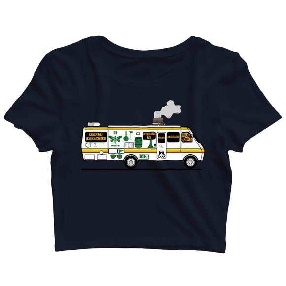 TV Series Breaking Bad The METH VAN Custom Printed Graphic Design Crop Top T-Shirt for Women - Aaramkhor