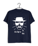 TV Series Breaking Bad Heisenberg Uncertainty Principle Custom Printed Graphic Design T-Shirt for Men - Aaramkhor