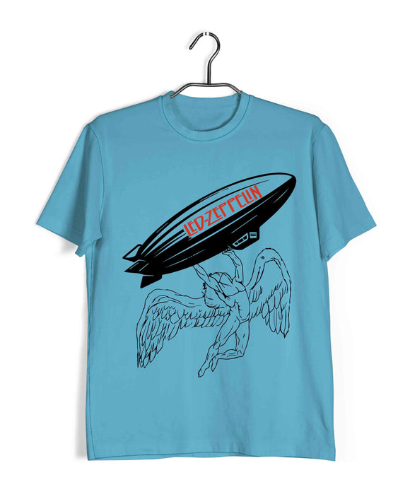 Music Rock Bands Led Zeppelin Icarus Mothership Custom Printed Graphic Design T-Shirt for Men - Aaramkhor