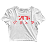 Music Rock Bands Led Zeppelin Classic Logo Custom Printed Graphic Design Crop Top T-Shirt for Women - Aaramkhor