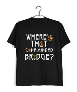 Music Rock Bands Led Zeppelin Confounded Bridge Custom Printed Graphic Design T-Shirt for Women - Aaramkhor