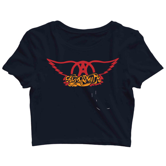 Aerosmith Music Rock Bands Aerosmith Custom Printed Graphic Design Crop Top T-Shirt for Women - Aaramkhor