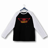 Music Rock Bands Aerosmith Custom Printed Graphic Design Raglan T-Shirt for Women - Aaramkhor