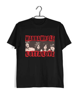 Music Rock Bands Whole Lotta Love Led Zeppelin Custom Printed Graphic Design T-Shirt for Women - Aaramkhor