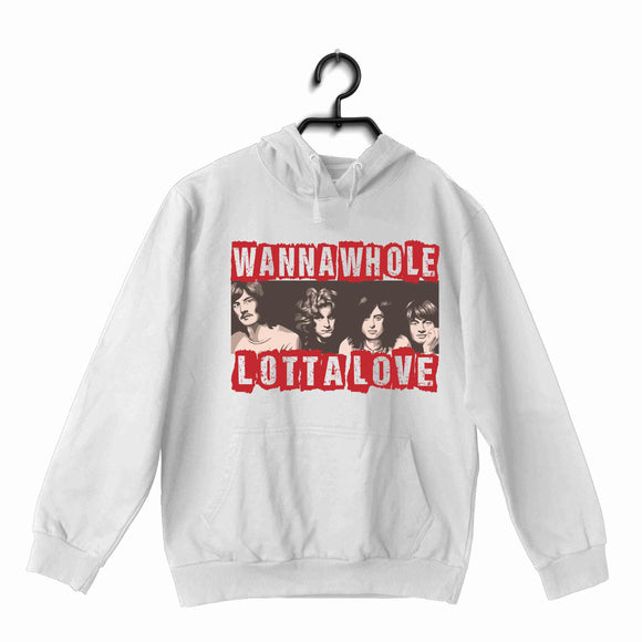 Led Zeppelin Music Rock Bands Whole Lotta Love Led Zeppelin UNISEX HOODIE Sweatshirts - Aaramkhor