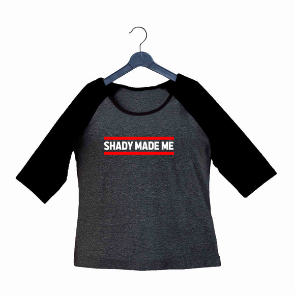 Music Artists EMINEM SHADY MADE ME Custom Printed Graphic Design Raglan T-Shirt for Women - Aaramkhor