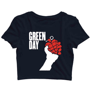 Green Day Music Rock Bands Green Day Logo Custom Printed Graphic Design Crop Top T-Shirt for Women - Aaramkhor