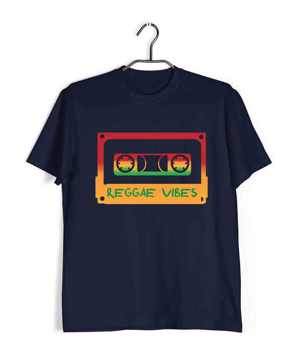 Music Artists REGGAE VIBES Custom Printed Graphic Design T-Shirt for Men - Aaramkhor