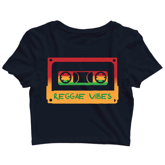 Music Artists REGGAE VIBES Custom Printed Graphic Design Crop Top T-Shirt for Women - Aaramkhor
