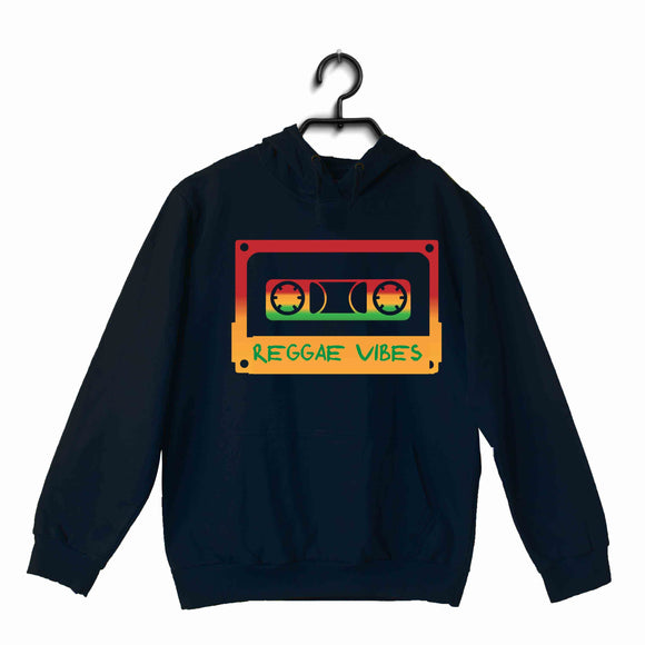 Navy Blue Bob Marley Music Artists REGGAE VIBES UNISEX HOODIE Sweatshirts