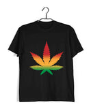 Music Artists WEED AND REGGAE IS ALL I NEED Custom Printed Graphic Design T-Shirt for Men - Aaramkhor