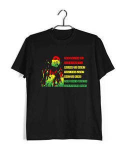 Music Artists BOB MARLEY CLASSIC QUOTE Custom Printed Graphic Design T-Shirt for Women - Aaramkhor