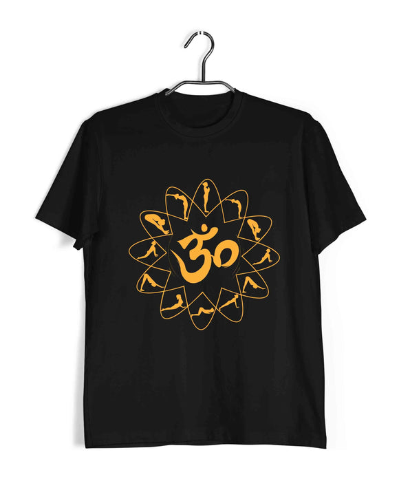 Yoga Fitness Yoga OM SURYANAMASKAR YOGA Custom Printed Graphic Design T-Shirt for Men - Aaramkhor