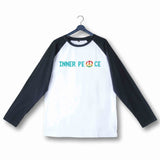 Yoga Fitness Yoga INNER PEACE YOGA FITNESS Custom Printed Graphic Design Raglan T-Shirt for Women - Aaramkhor