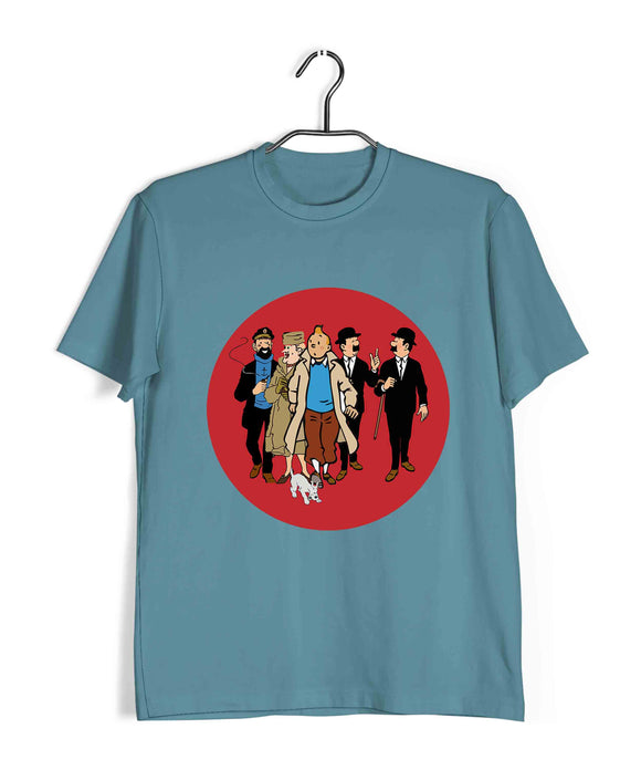 Comics Tintin FAMILY Custom Printed Graphic Design T-Shirt for Women - Aaramkhor