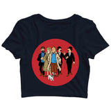 Comics Tintin FAMILY Custom Printed Graphic Design Crop Top T-Shirt for Women - Aaramkhor