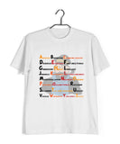 Comics TinTin CAPTAIN HADDOCK - A-Z SwearWords Custom Printed Graphic Design T-Shirt for Women - Aaramkhor