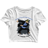 Comics TinTin Captain Haddock - Billions of Blue Blistering Barnacles Custom Printed Graphic Design Crop Top T-Shirt for Women - Aaramkhor