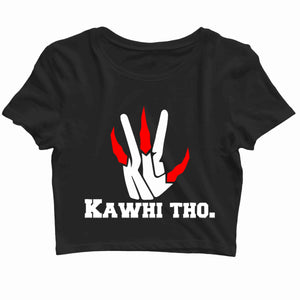 Sports Basketball KAWHI THO - KAWHI LEONARD THE CLAW Custom Printed Graphic Design Crop Top T-Shirt for Women - Aaramkhor